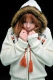 Muchacha redheaded congelada Fotografía de archivo