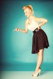 Muchacha retra atractiva integral Foto de archivo libre de regalías