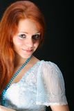 Muchacha roja del pelo Imagenes de archivo