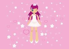 Muchacha rosada Foto de archivo libre de regalías