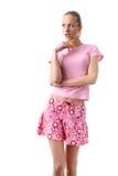 Muchacha rosada imagen de archivo libre de regalías