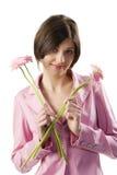 Muchacha rosada de la chaqueta Foto de archivo libre de regalías