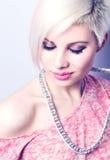 Muchacha rosada de la moda Imagenes de archivo