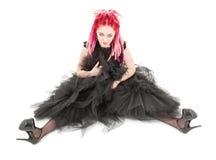 Muchacha rosada del pelo Fotografía de archivo libre de regalías