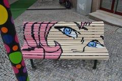 Muchacha rosada del pelo Imagen de archivo