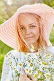 Muchacha rubia Foto de archivo libre de regalías