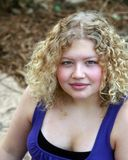 Muchacha rubia adolescente Fotografía de archivo
