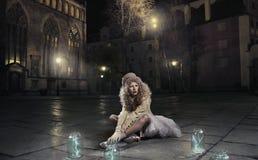 Muchacha rubia asombrosa Foto de archivo libre de regalías