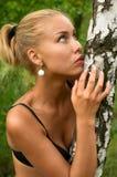Muchacha rubia atractiva Imagen de archivo libre de regalías