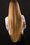 Muchacha rubia con el pelo hermoso largo, visión trasera Fotografía de archivo libre de regalías