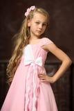 Muchacha rubia con el pelo largo Foto de archivo