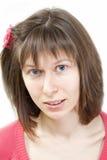 Muchacha rubia con los ojos azules Imagenes de archivo