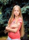 Muchacha rubia de pelo largo Imágenes de archivo libres de regalías