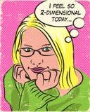Muchacha rubia del cómic Imágenes de archivo libres de regalías