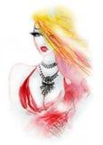 Muchacha rubia del encanto con el collar de lujo Imagen de archivo libre de regalías