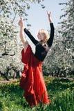 Muchacha rubia del flamenco Imagen de archivo libre de regalías