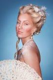 Muchacha rubia hermosa en estilo romántico Fotos de archivo libres de regalías