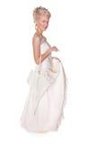 Muchacha rubia hermosa en estilo romántico Fotografía de archivo
