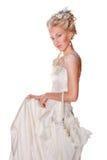 Muchacha rubia hermosa en estilo romántico Fotos de archivo