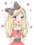 Muchacha rubia hermosa, linda Imágenes de archivo libres de regalías