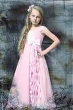 Muchacha rubia joven hermosa con el pelo largo Fotografía de archivo