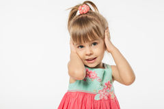 Muchacha rubia linda Imagenes de archivo