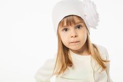 Muchacha rubia linda Imagen de archivo