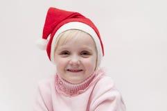 Muchacha rubia. Tema de la Navidad Imagen de archivo