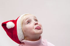 Muchacha rubia. Tema de la Navidad Foto de archivo