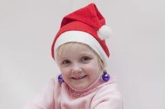 Muchacha rubia. Tema de la Navidad Fotos de archivo libres de regalías