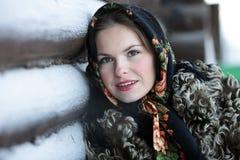 Muchacha rusa en alineada nacional Fotografía de archivo libre de regalías