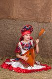 Muchacha rusa en vestido nacional Fotos de archivo libres de regalías