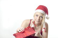 Muchacha Santa Fotos de archivo libres de regalías