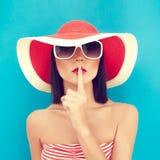 Muchacha secreta del verano Imágenes de archivo libres de regalías