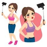 Muchacha Selfie del deporte stock de ilustración