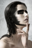Muchacha sensual con maquillaje creativo fotos de archivo libres de regalías