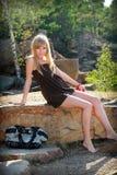 Muchacha sexual joven en vestido Imágenes de archivo libres de regalías