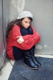 Muchacha sin hogar Imágenes de archivo libres de regalías