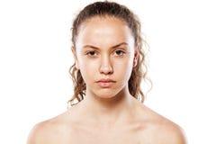 Muchacha sin maquillaje Foto de archivo libre de regalías