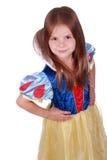 Muchacha sonriente adorable en traje del cuento de hadas Fotografía de archivo
