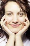 Muchacha sonriente, cierre para arriba Imágenes de archivo libres de regalías