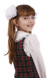 Muchacha sonriente de la escuela. Educación. imagenes de archivo