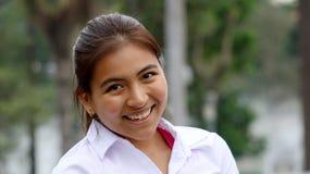 Muchacha sonriente de la minoría Fotos de archivo libres de regalías