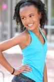 Muchacha sonriente del adolescente del afroamericano Imágenes de archivo libres de regalías