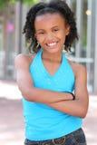 Muchacha sonriente del adolescente del afroamericano Fotografía de archivo