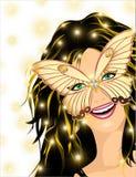 Muchacha sonriente del carnaval Foto de archivo libre de regalías