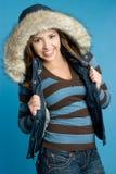 Muchacha sonriente del invierno Imagenes de archivo