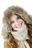 Muchacha sonriente del invierno Imágenes de archivo libres de regalías