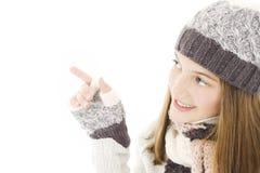 Muchacha sonriente en estilo del invierno. Fotografía de archivo