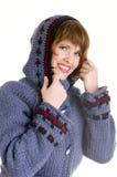 Muchacha sonriente en estilo del invierno Imagen de archivo libre de regalías